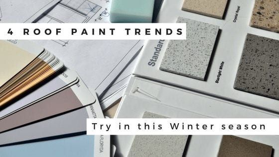 Looking To Get Your Roof Painted This Winter? Try These Roof Paint Trends!