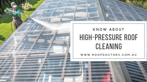 Important Things You Should Know About The High-Pressure Roof Cleaning